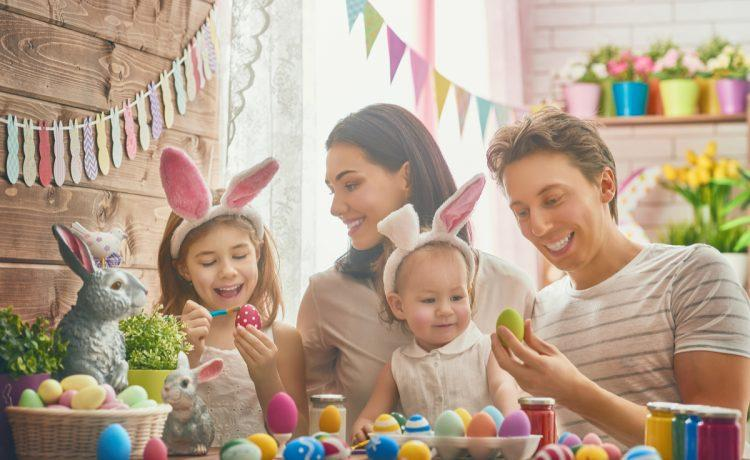 Taking a break from their runs and enjoying Easter as a family.