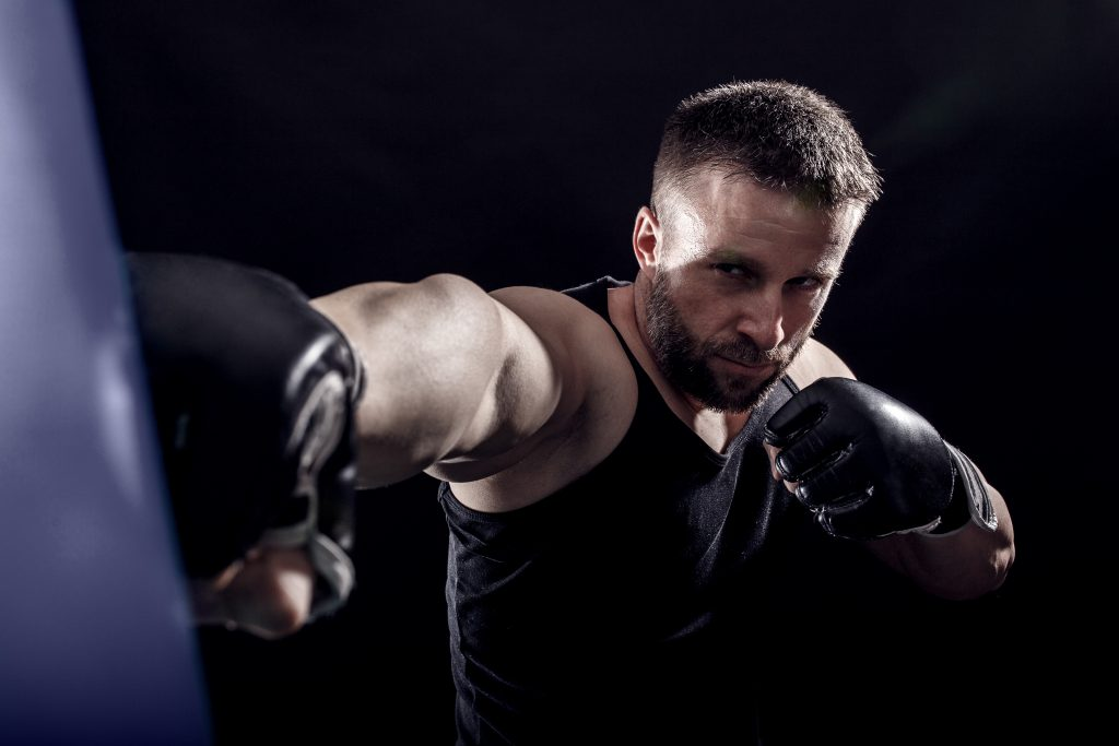 Throwing punches on the bag is tougher than you think.