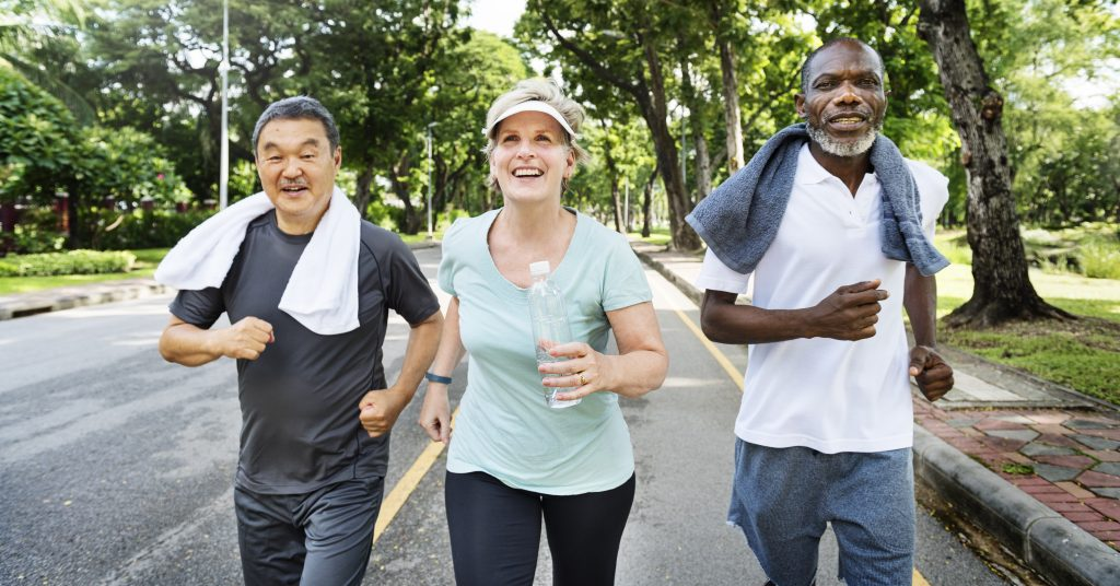 Group Brisk Walking to burn fat