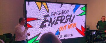 Grenade Energy drinks launch