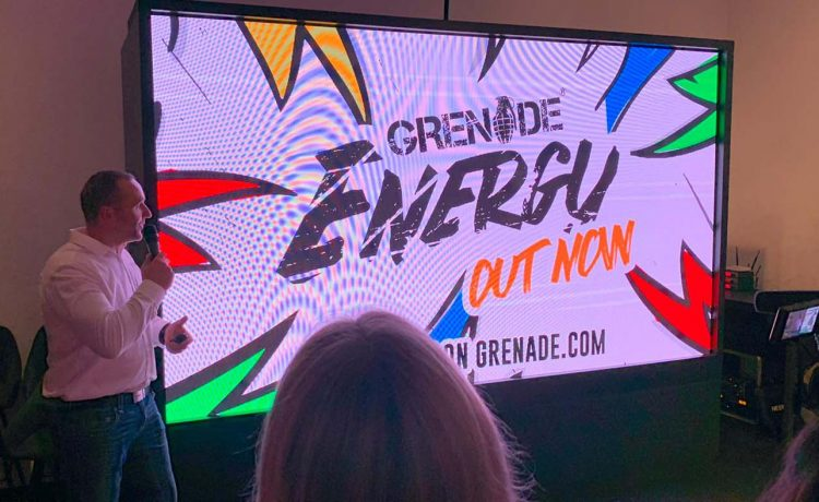 Grenade Energy drinks launch